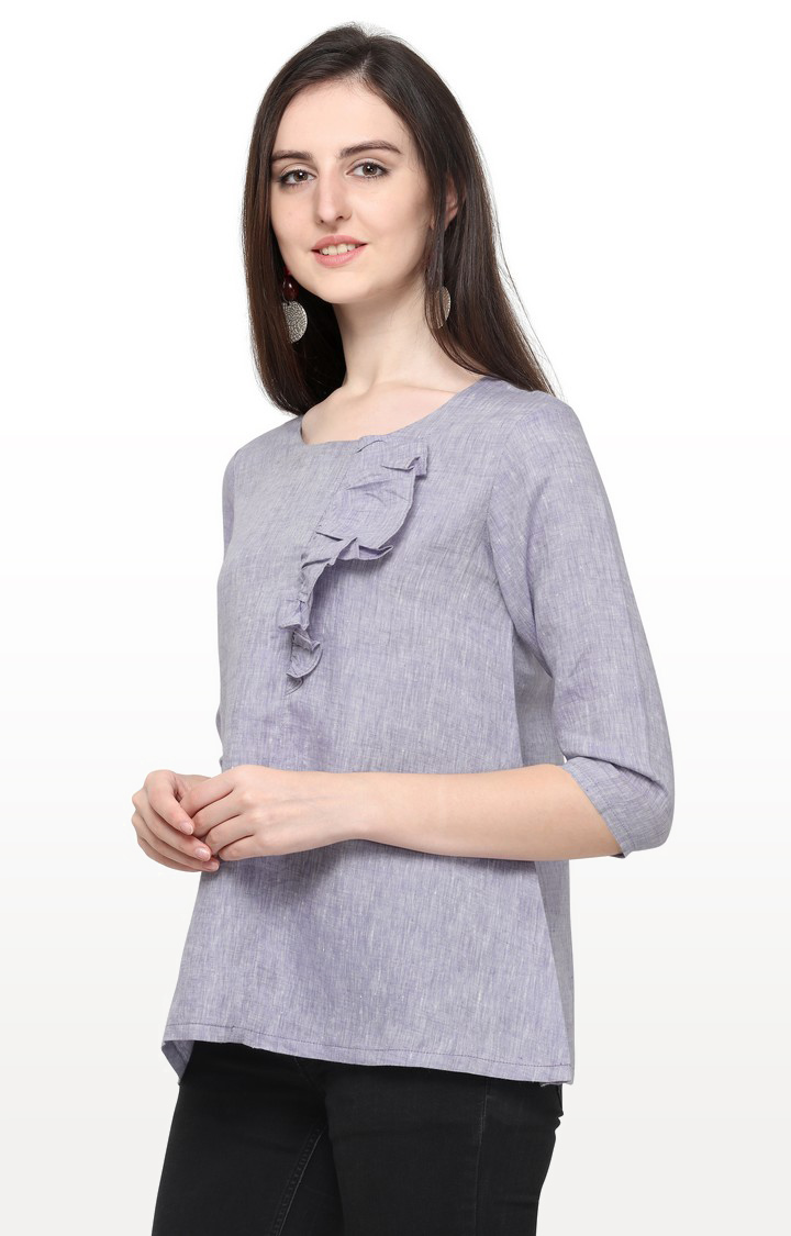 Smarty Pants | Lavender Solid Top