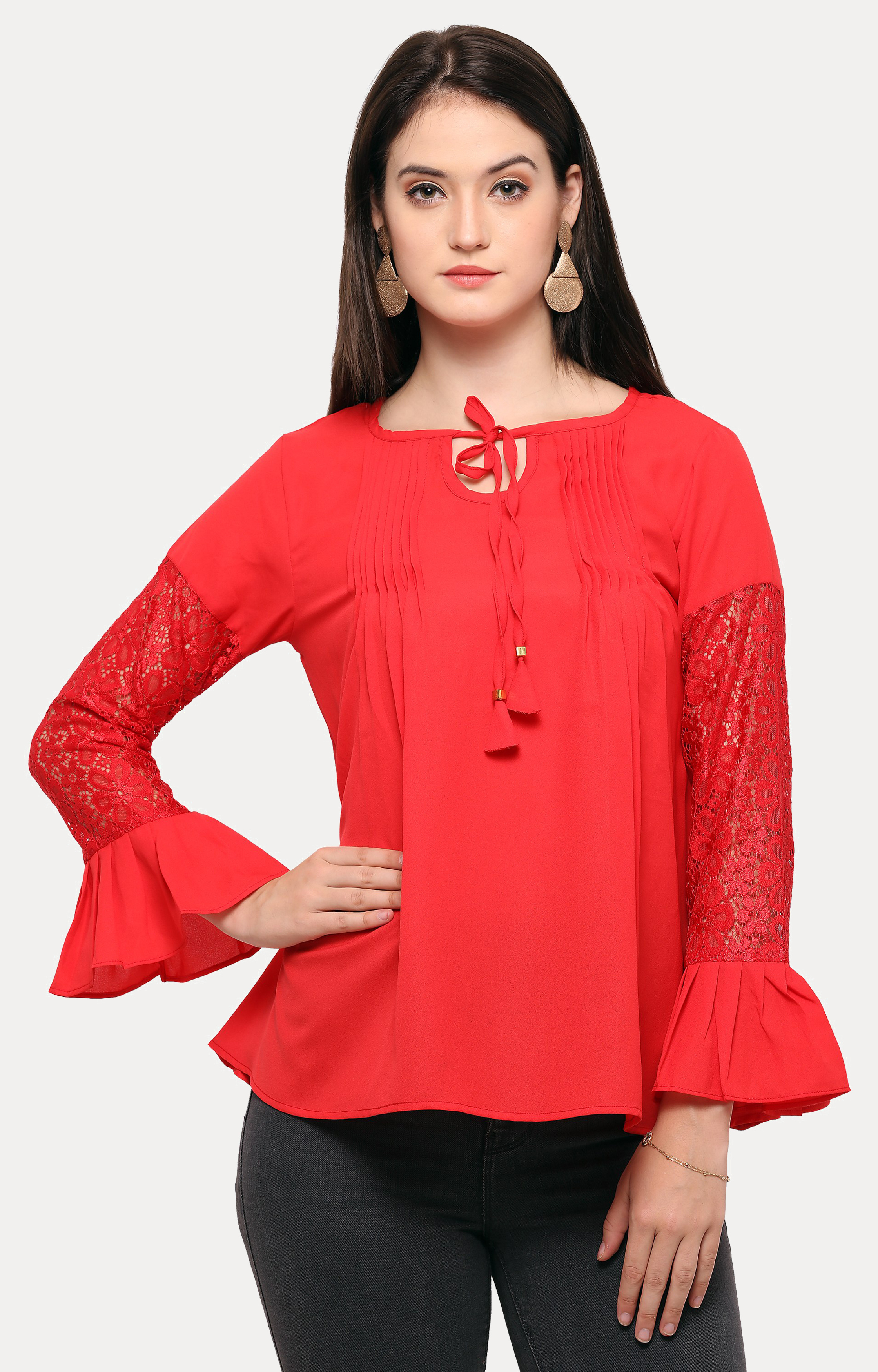 Smarty Pants   Red Solid Top