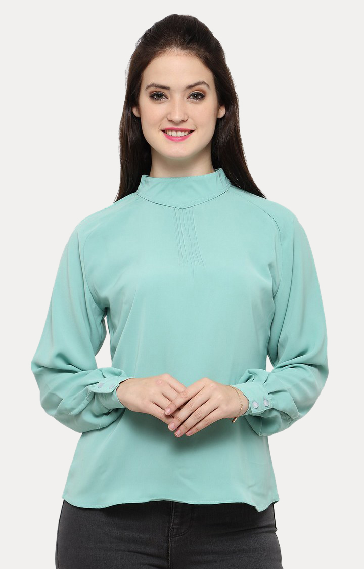 Smarty Pants   Green Solid Top