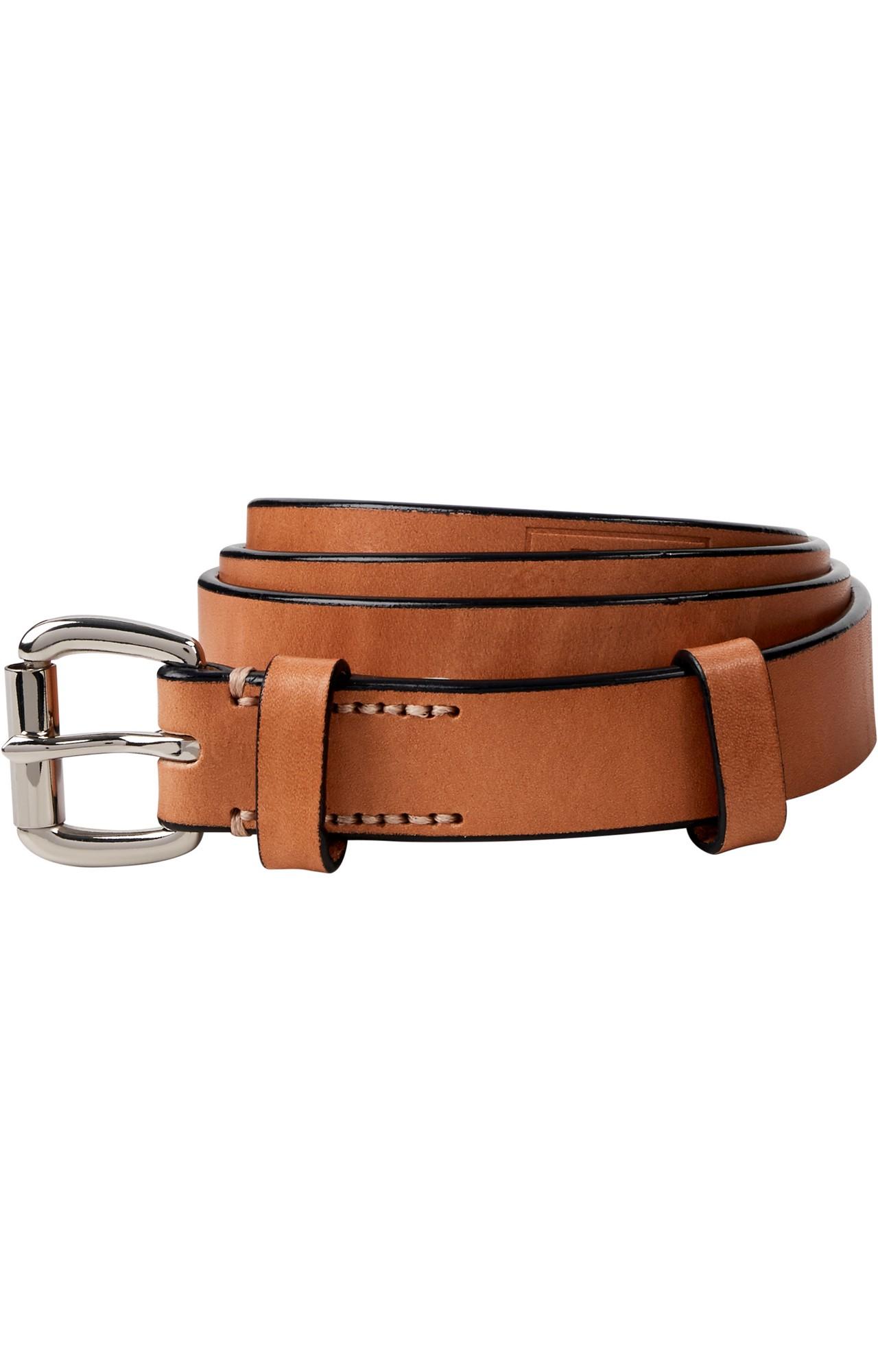 Scotch & Soda | Ams Blauw leather belt with contrast edge