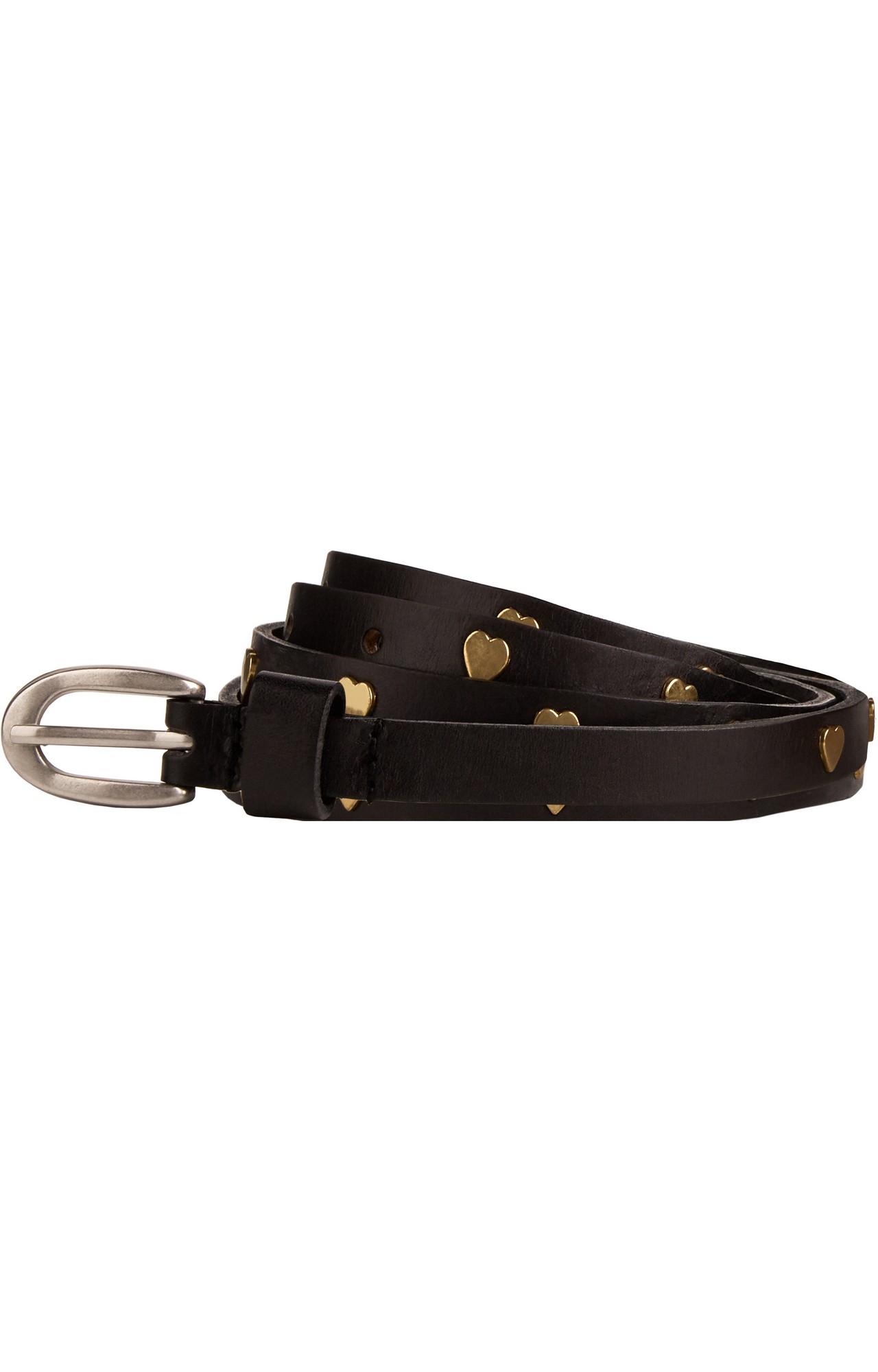 Scotch & Soda   thin leather belts with studs