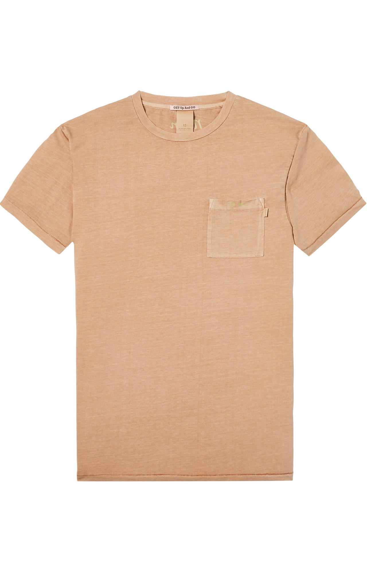 Scotch & Soda | GARMENT-DYED TEE WITH CHEST POCKET AND S