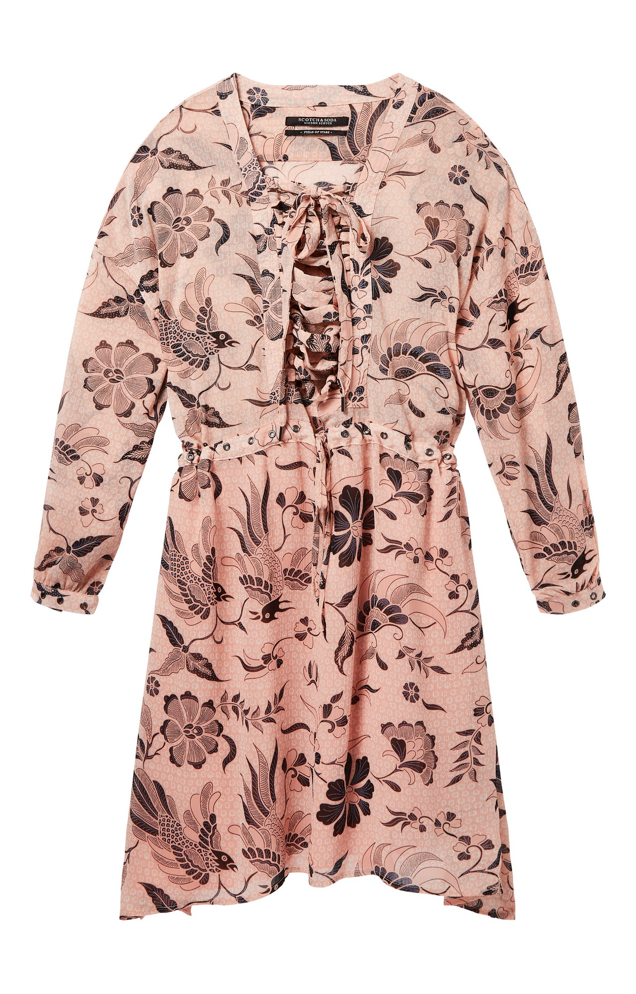 Scotch & Soda | PRINTED SHEER OVERSIZED FIT DRESS WITH L