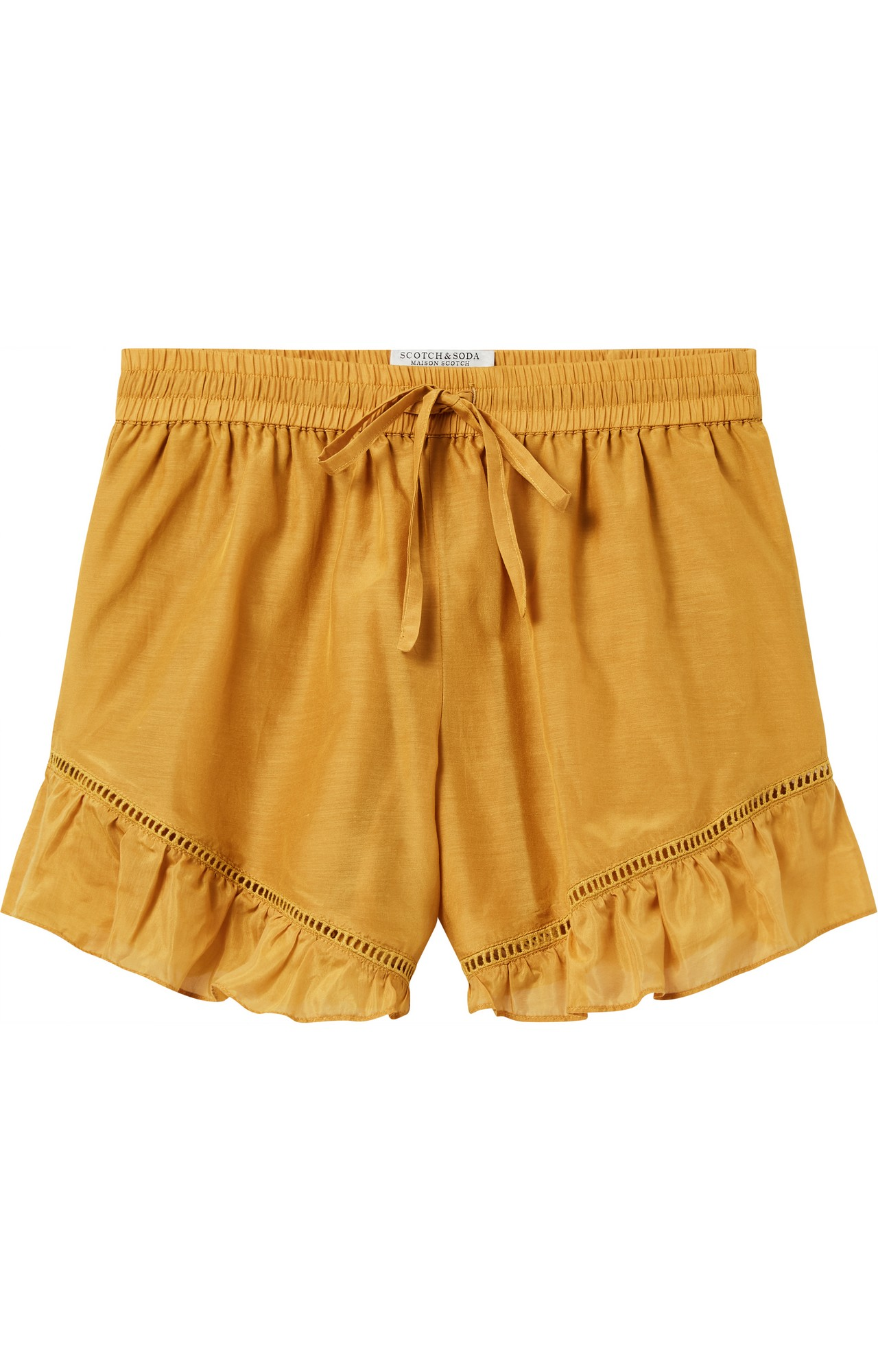 Scotch & Soda   COTTON SILK SHORTS WITH LADDER AND LACE