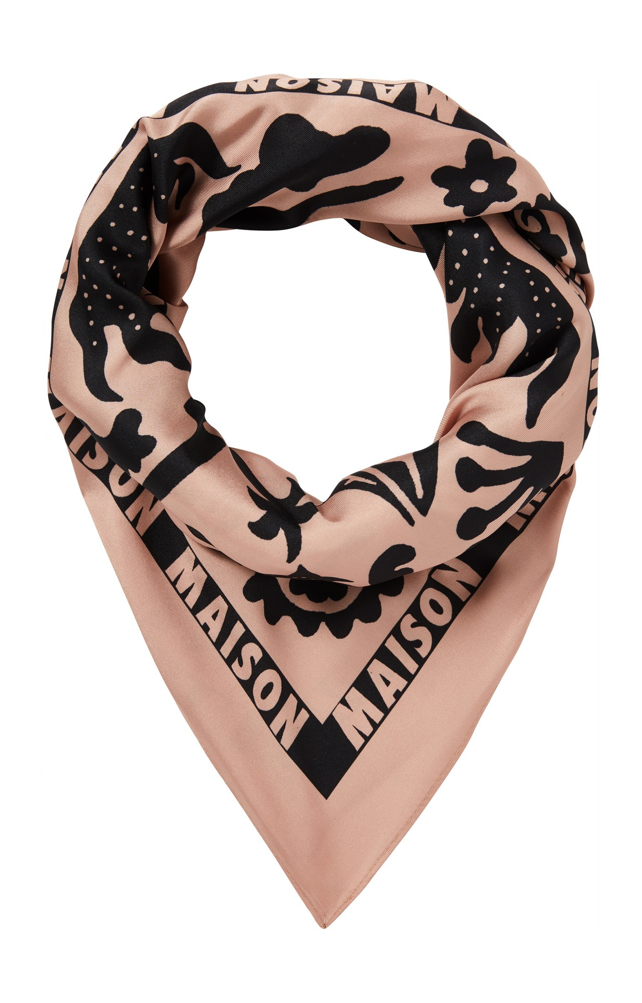 Scotch & Soda | SILKY FEEL TWILL SQUARE SCARF WITH PLACE