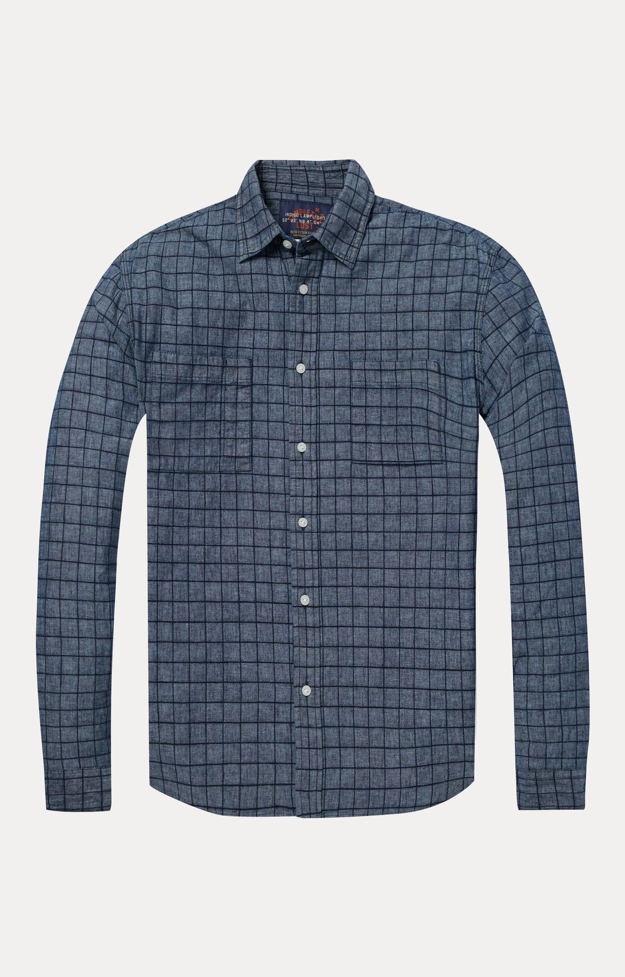 Scotch & Soda   Blue Checked Casual Shirt