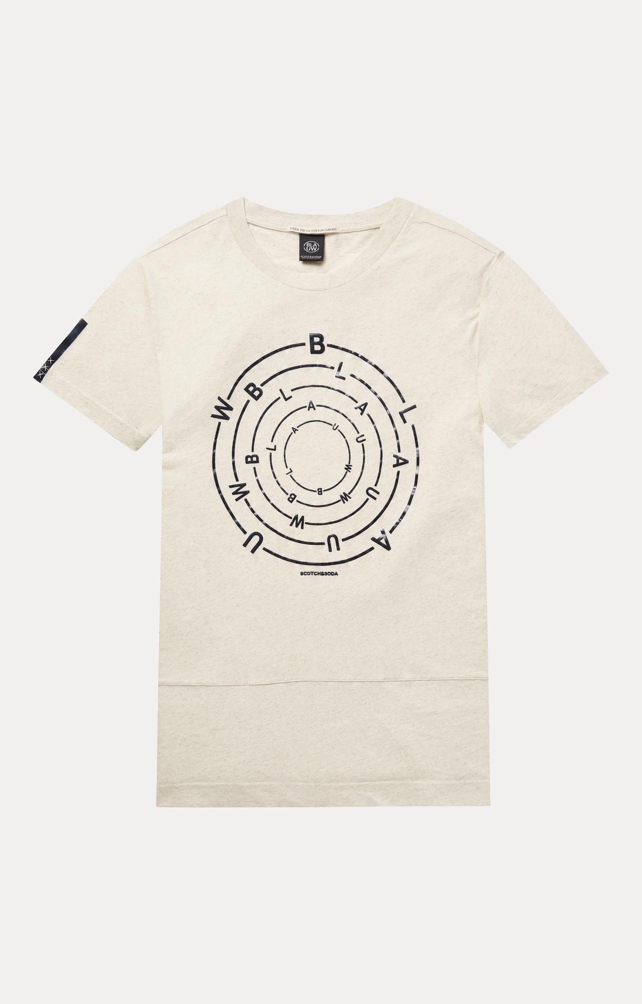 Scotch & Soda | Ecru Printed T-Shirt