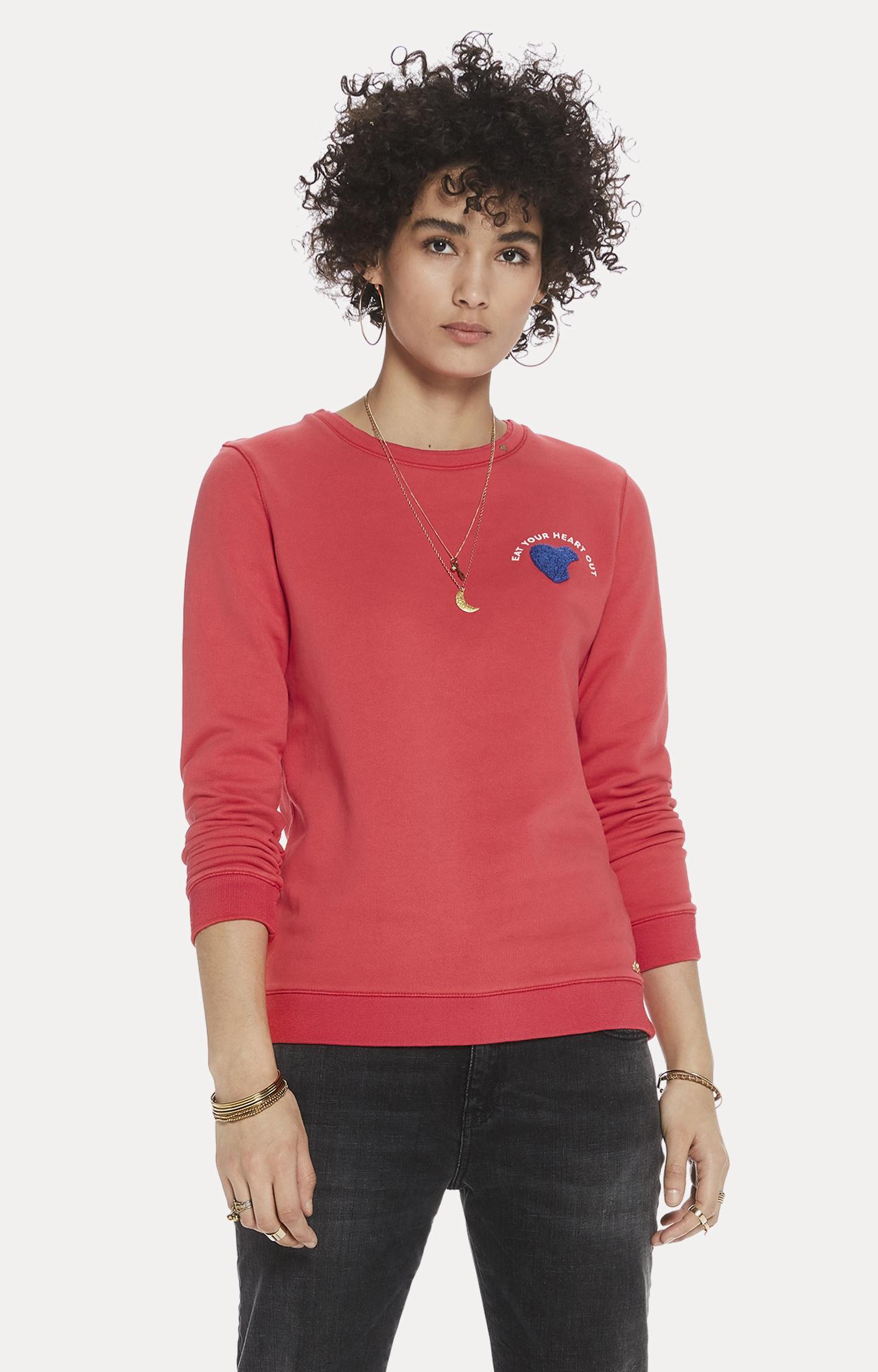 Scotch & Soda   Raspberry Solid Sweatshirt