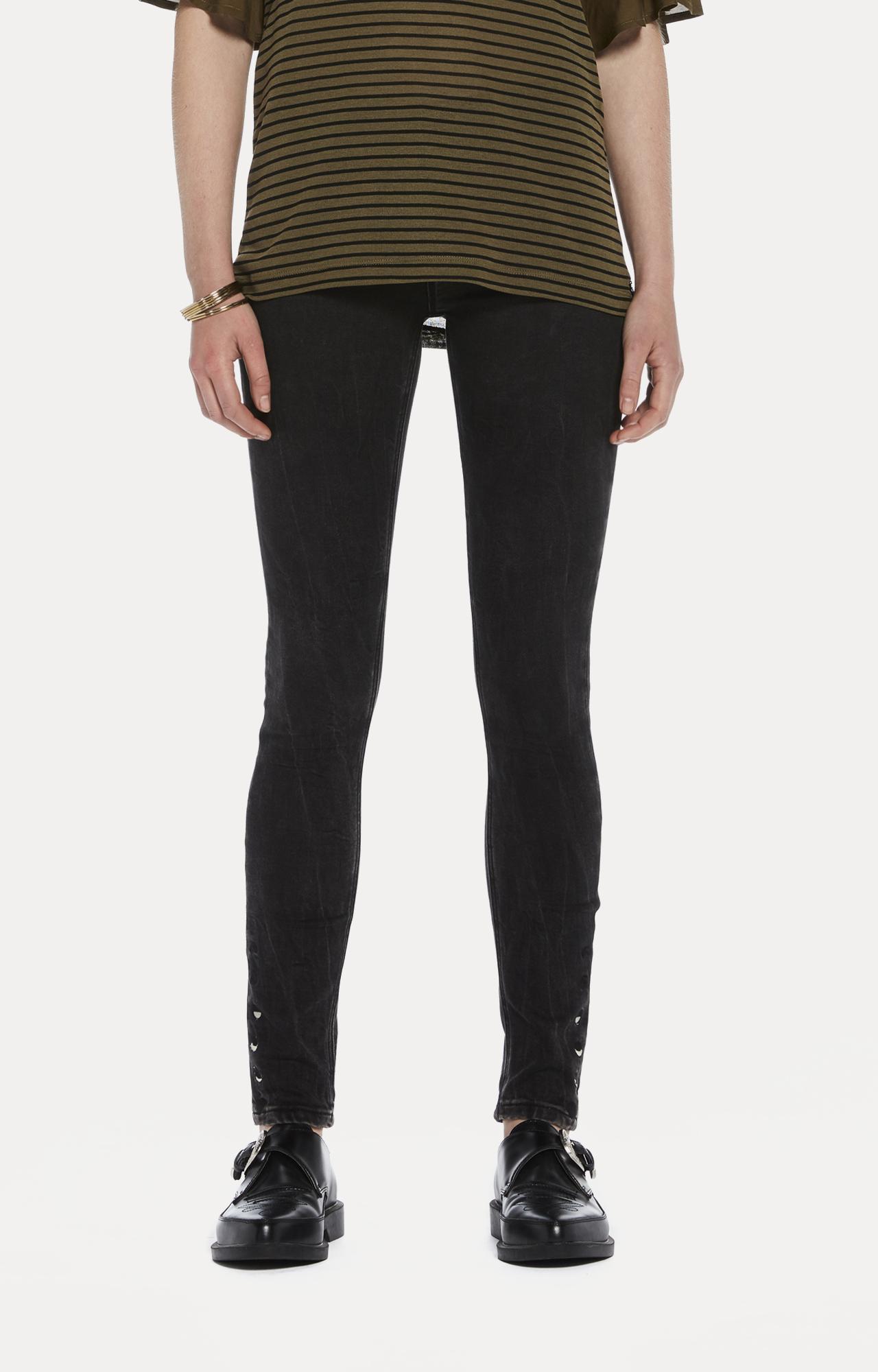 Scotch & Soda   Black Solid Straight Jeans