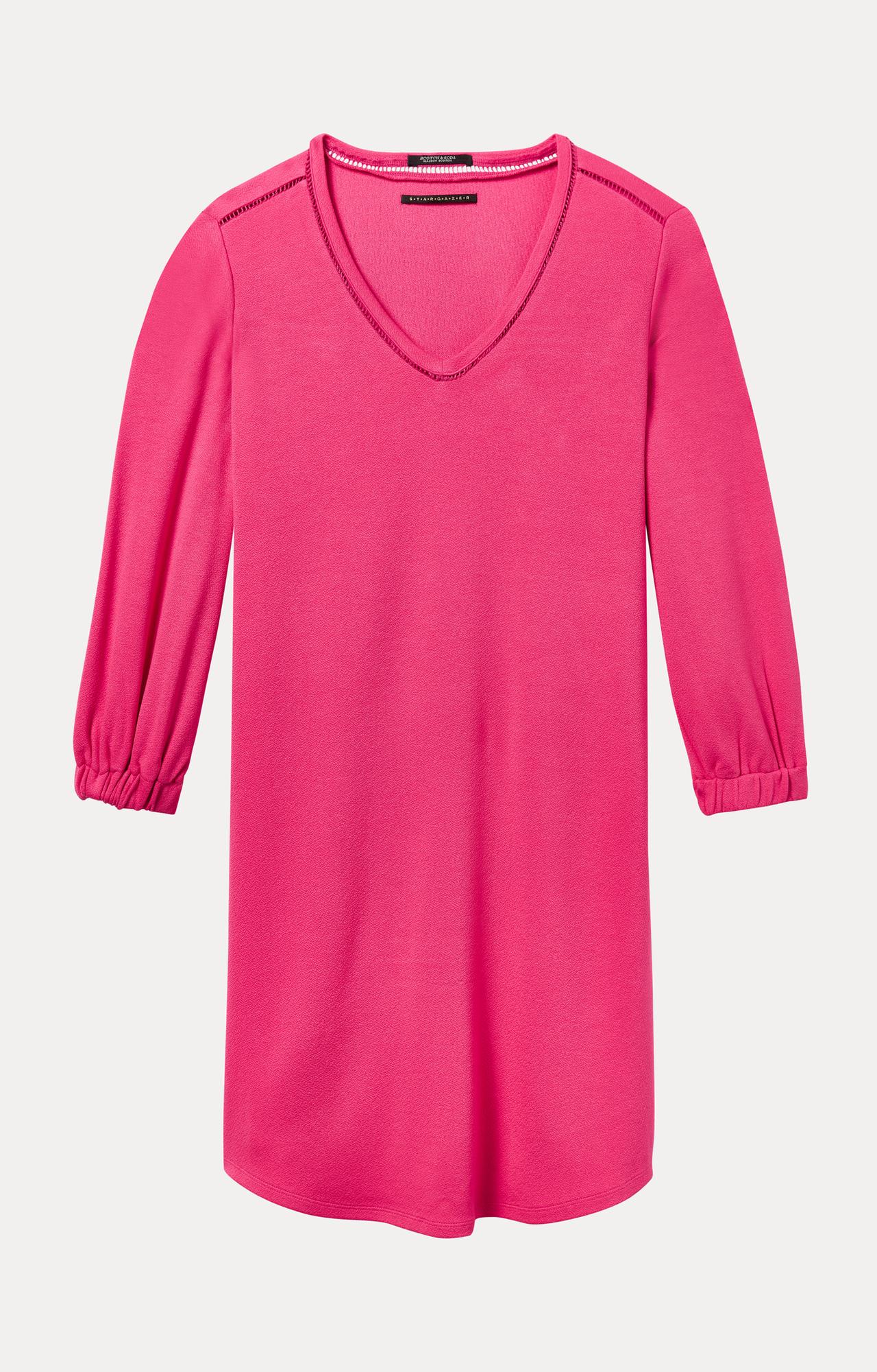 Scotch & Soda | Electric Pink Melange Shift Dress
