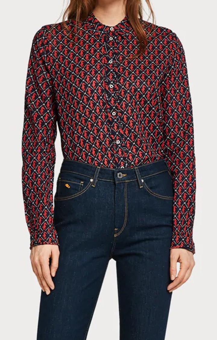 Scotch & Soda | Multicoloured Printed Casual Shirt