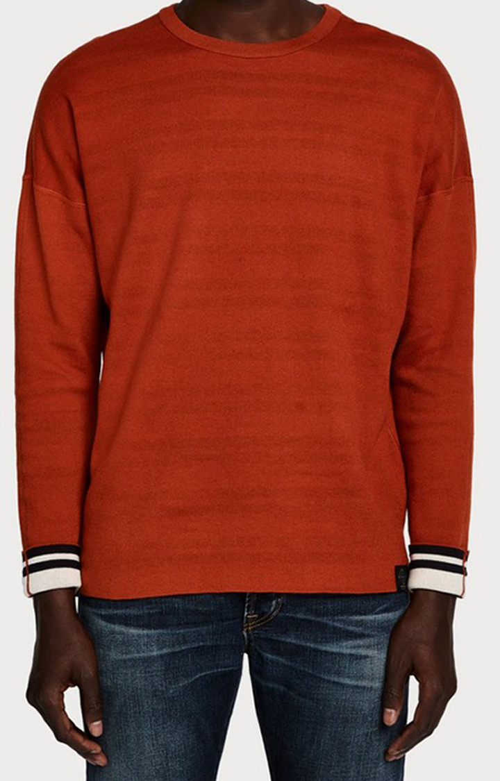 Scotch & Soda   White Striped Sweatshirt