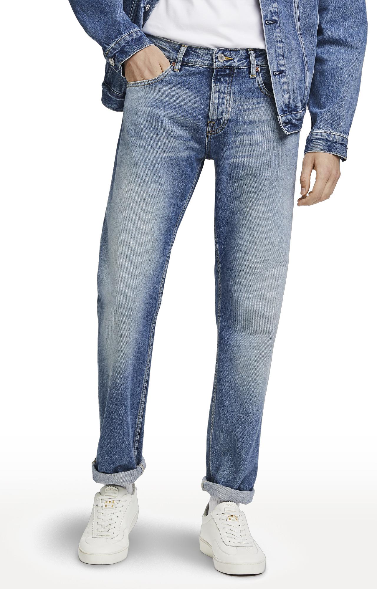 Scotch & Soda | Blue Solid Vernon Jeans
