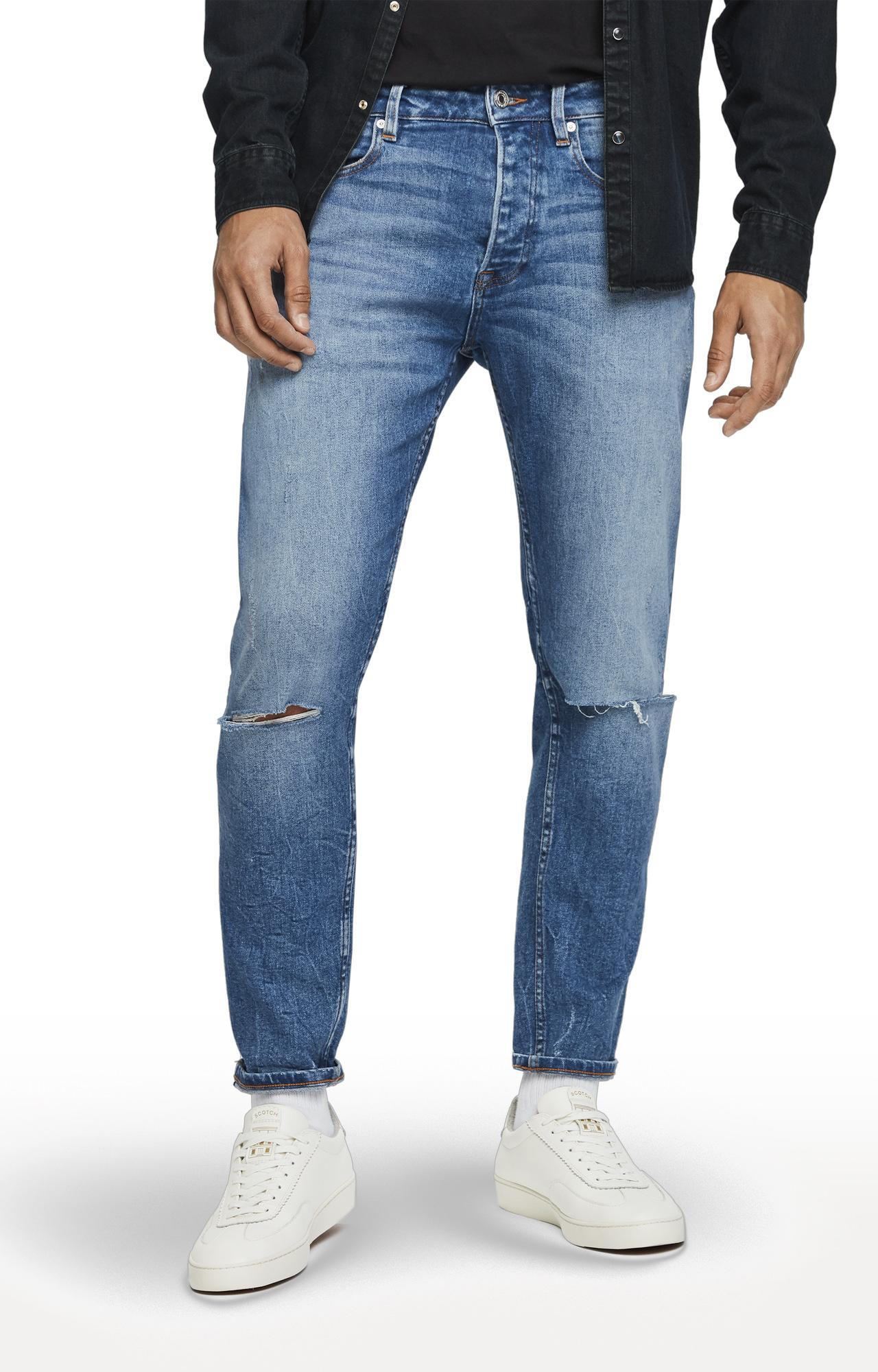 Scotch & Soda   Blue Ripped Dean Jeans