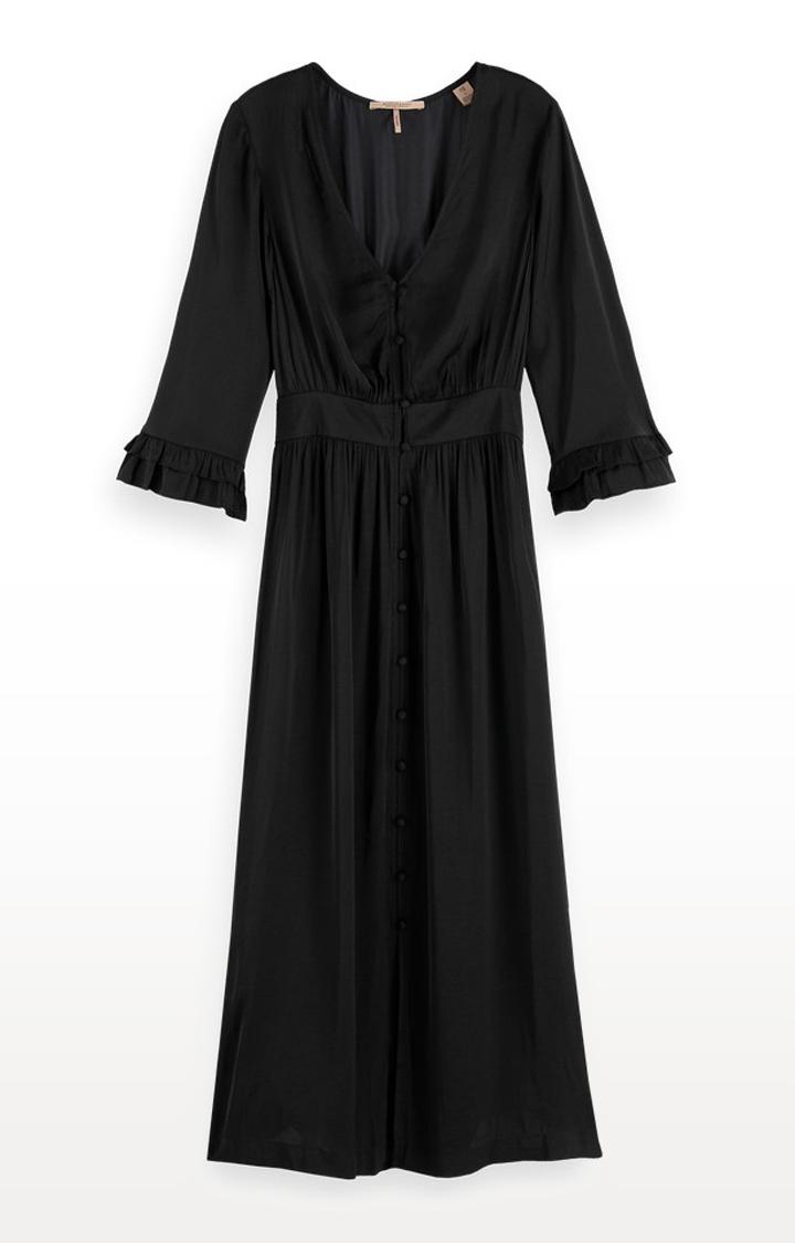 Scotch & Soda | Black Solid Shift Dress