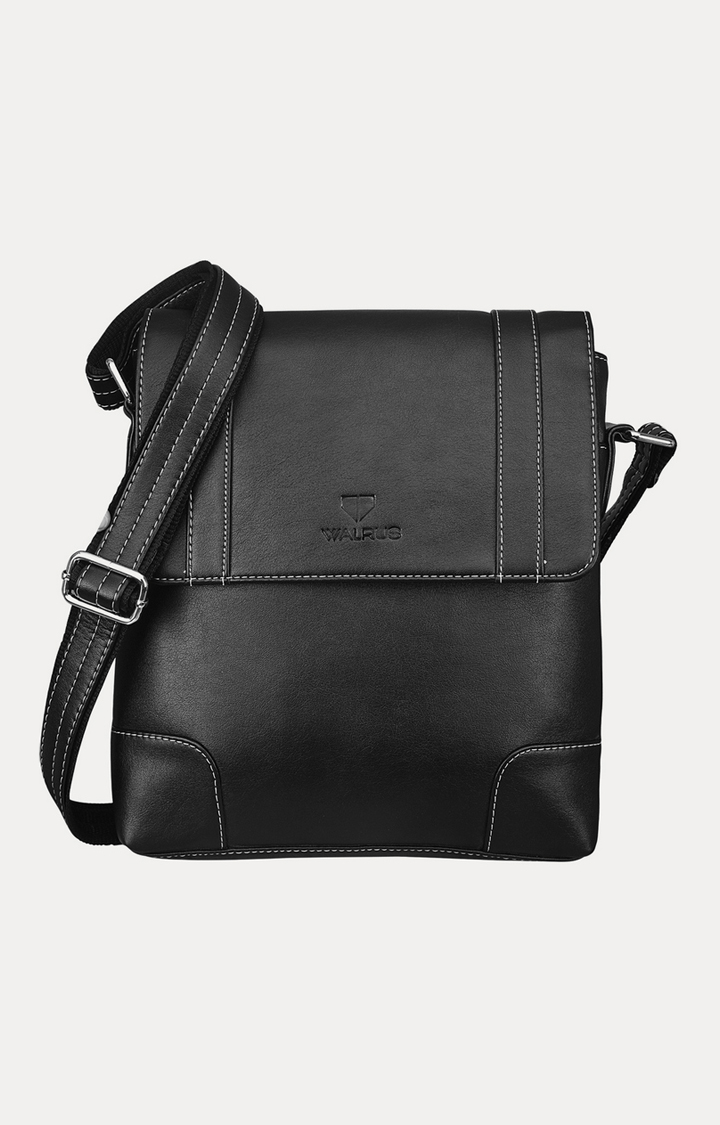 Walrus | Black Messenger Bag