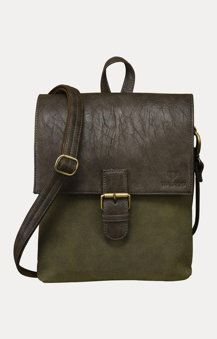 Walrus | Green and Brown Messenger Bag
