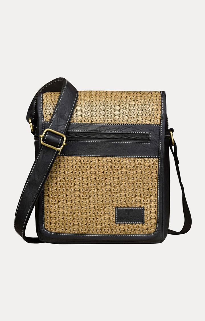 Walrus | Black and Beige Messenger Bag