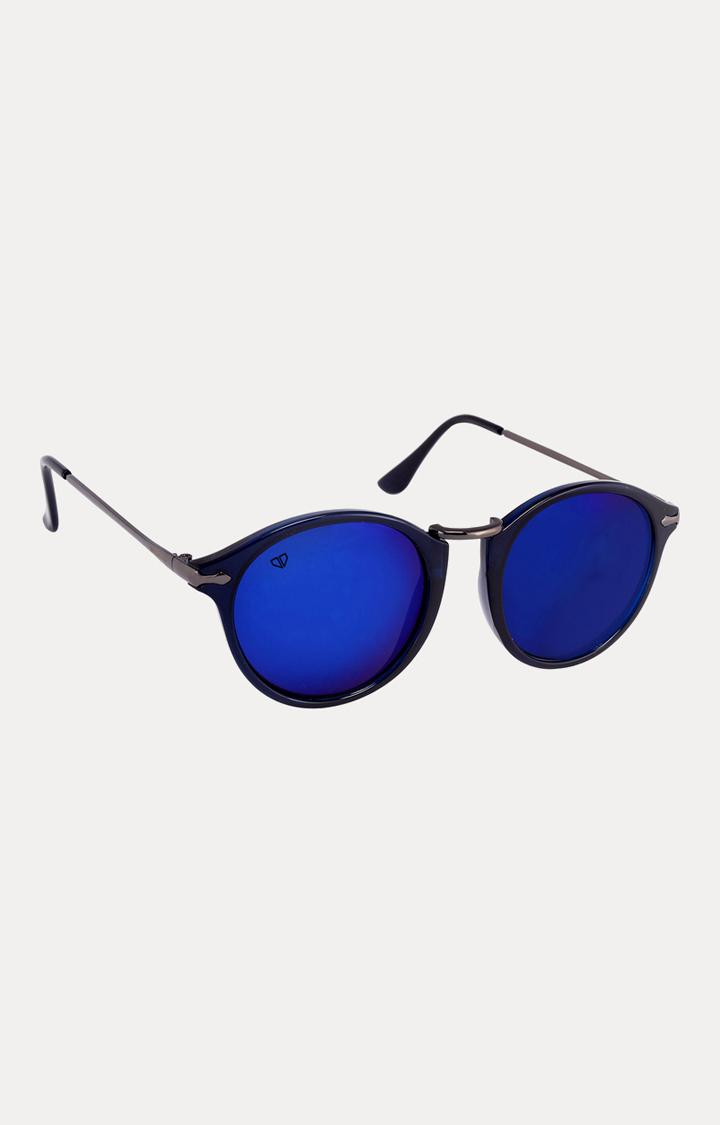 Walrus | Blue Round Sunglasses