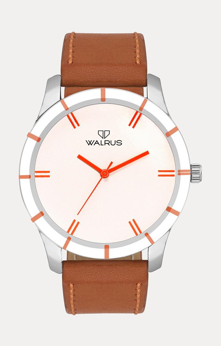 Walrus   Dark Orange Analog Watch