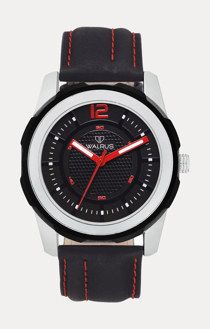 Walrus   Black Analog Watch