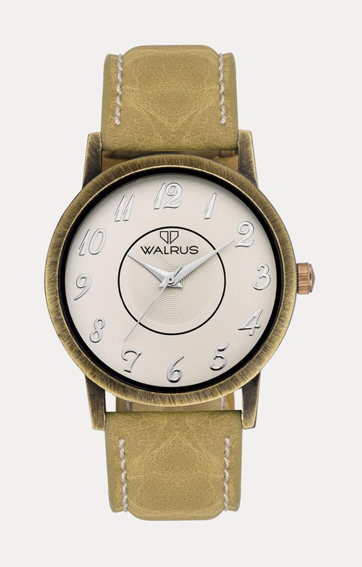 Walrus   Beige Analog Watch