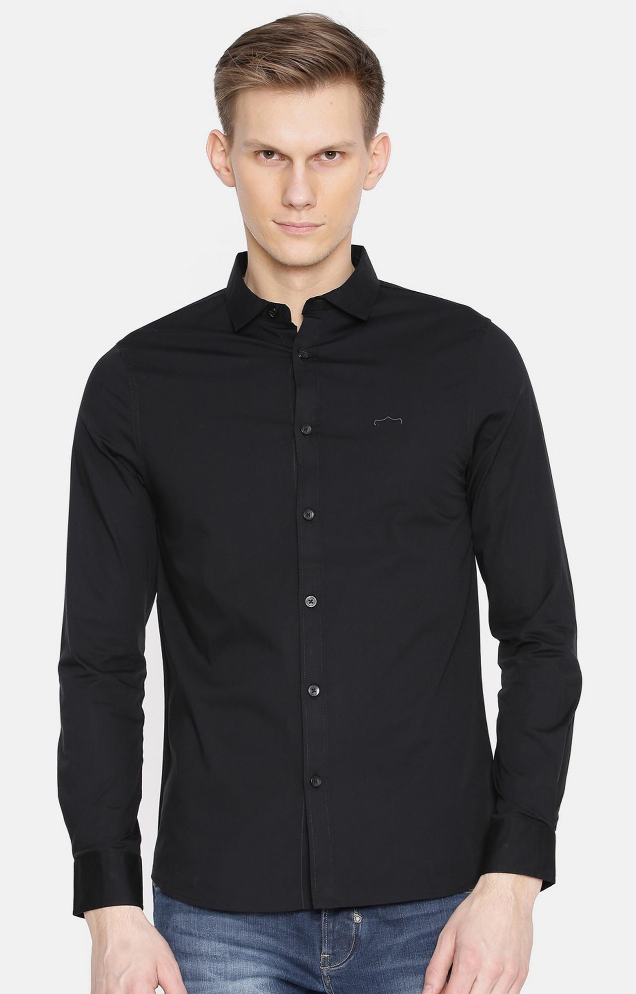 883 Police | Black Melange Casual Shirt