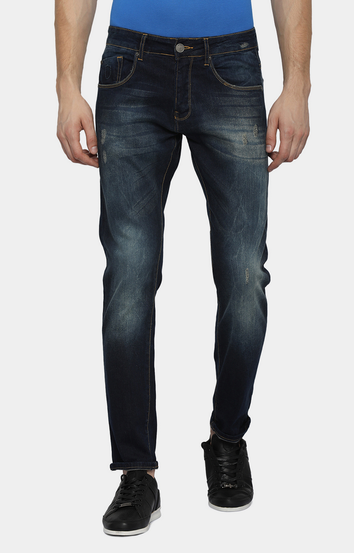 883 Police | Blue Solid Straight Jeans