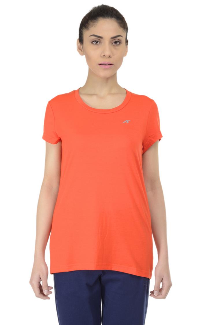 ALCIS   ALCIS Orange Solid T-Shirt