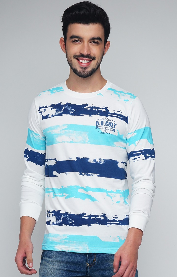 Difference of Opinion | White Striped T-Shirt