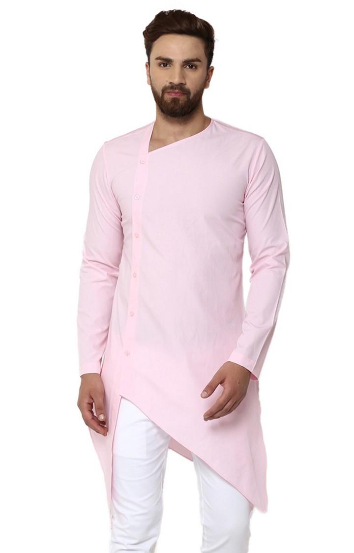 SEE DESIGNS   Pink Solid Kurta