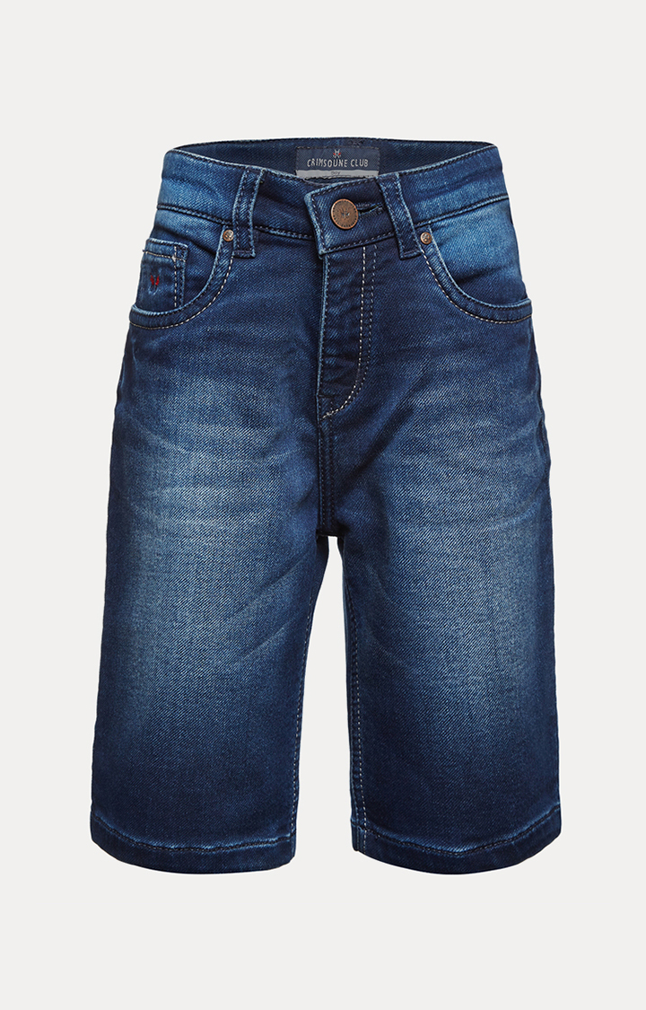 Crimsoune Club | Blue Solid Shorts