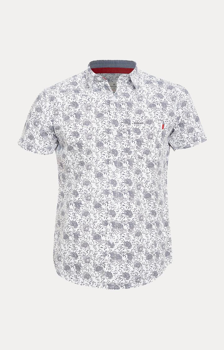 Crimsoune Club   White Printed Shirt