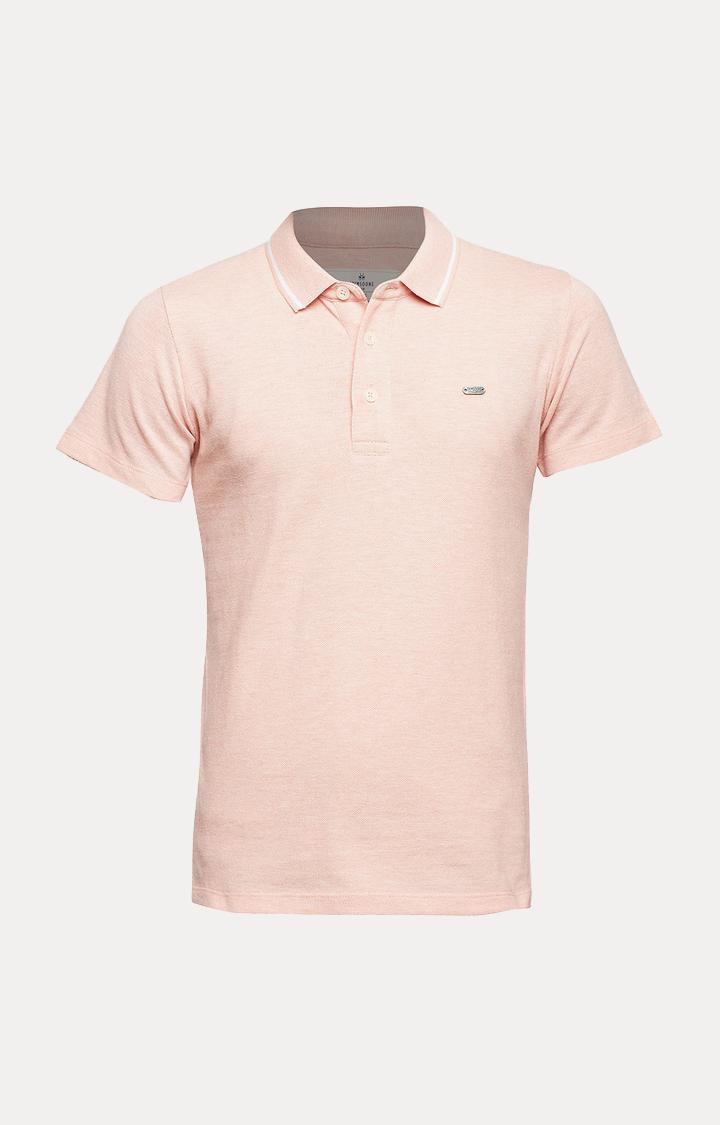 Crimsoune Club | Peach Melange T-Shirt