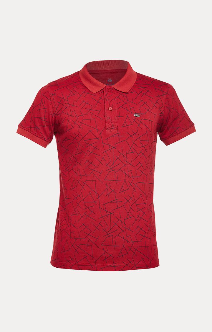 Crimsoune Club | Maroon Printed T-Shirt