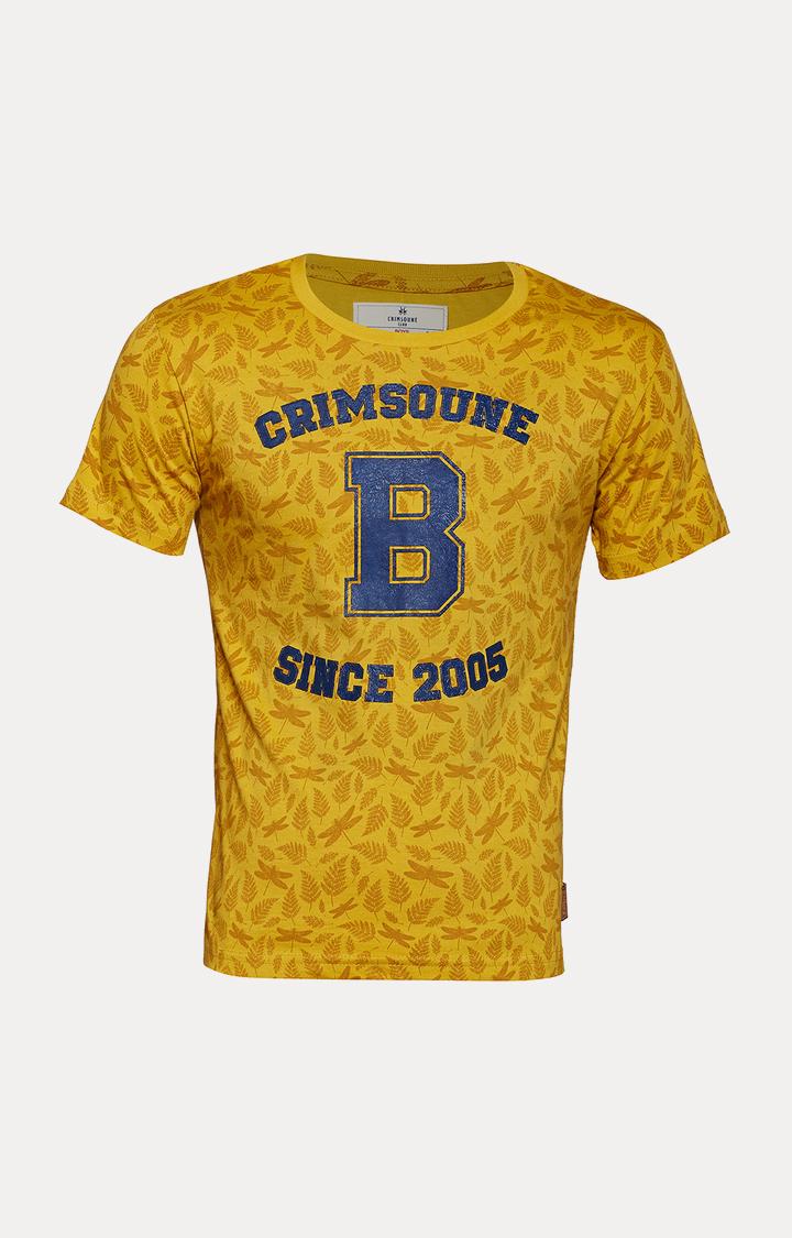 Crimsoune Club | Yellow Floral T-Shirt