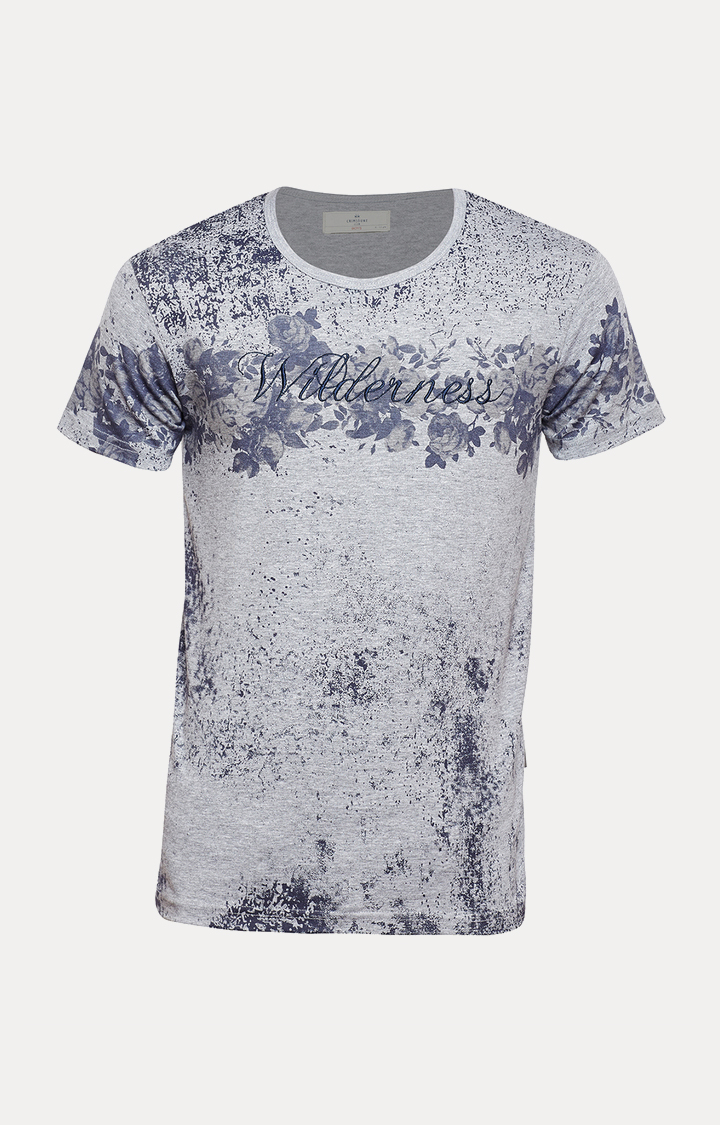 Crimsoune Club | Grey Printed T-Shirt