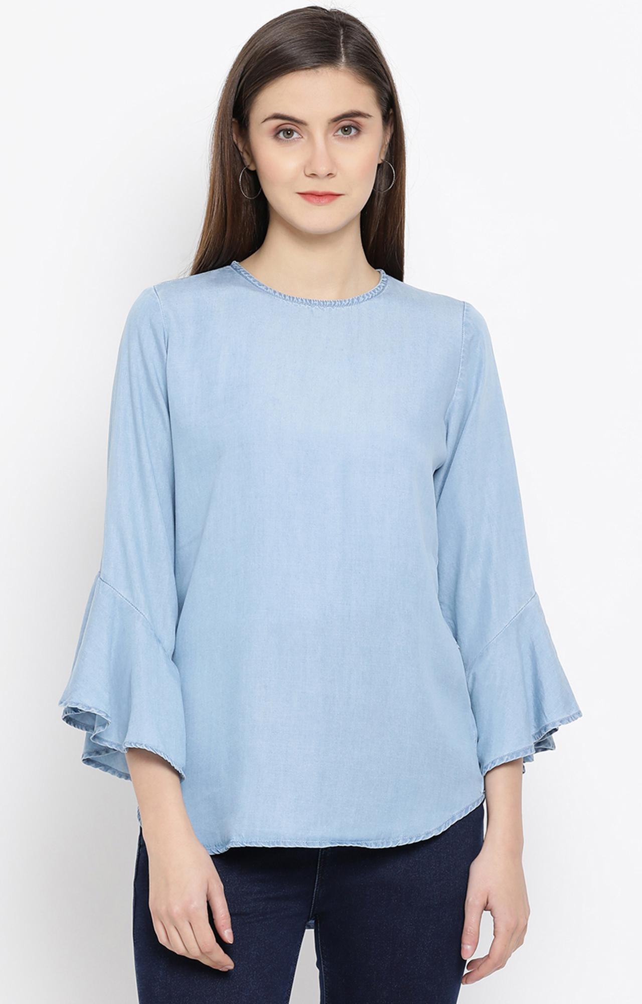 Crimsoune Club   Blue Solid Top