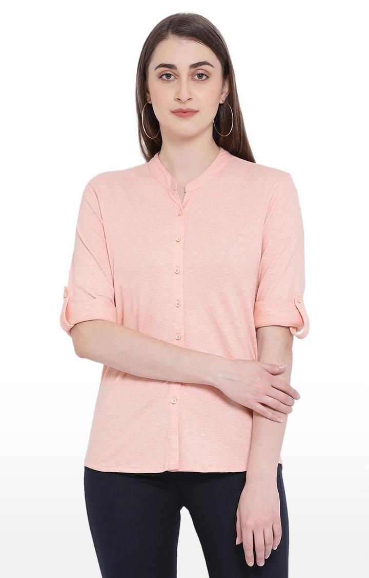 Crimsoune Club | Beige Melange Casual Shirt