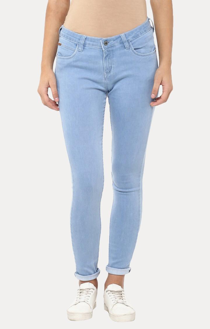 Crimsoune Club | Light Blue Straight Jeans