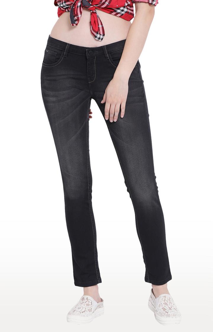 Crimsoune Club   Black Solid Slim Fit Jeans