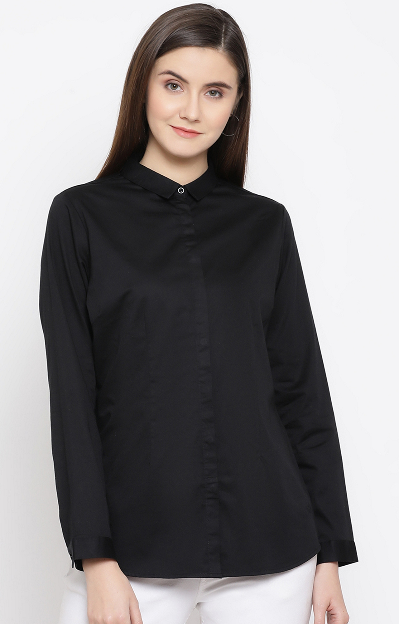 Crimsoune Club | Black Solid Casual Shirt