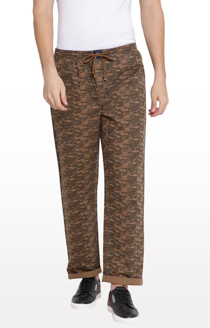 Crimsoune Club   Brown Printed Pyjamas