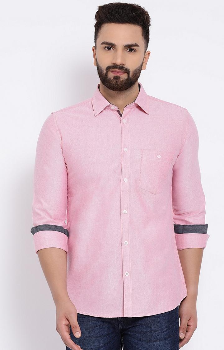 Crimsoune Club | Pink Solid Casual Shirt