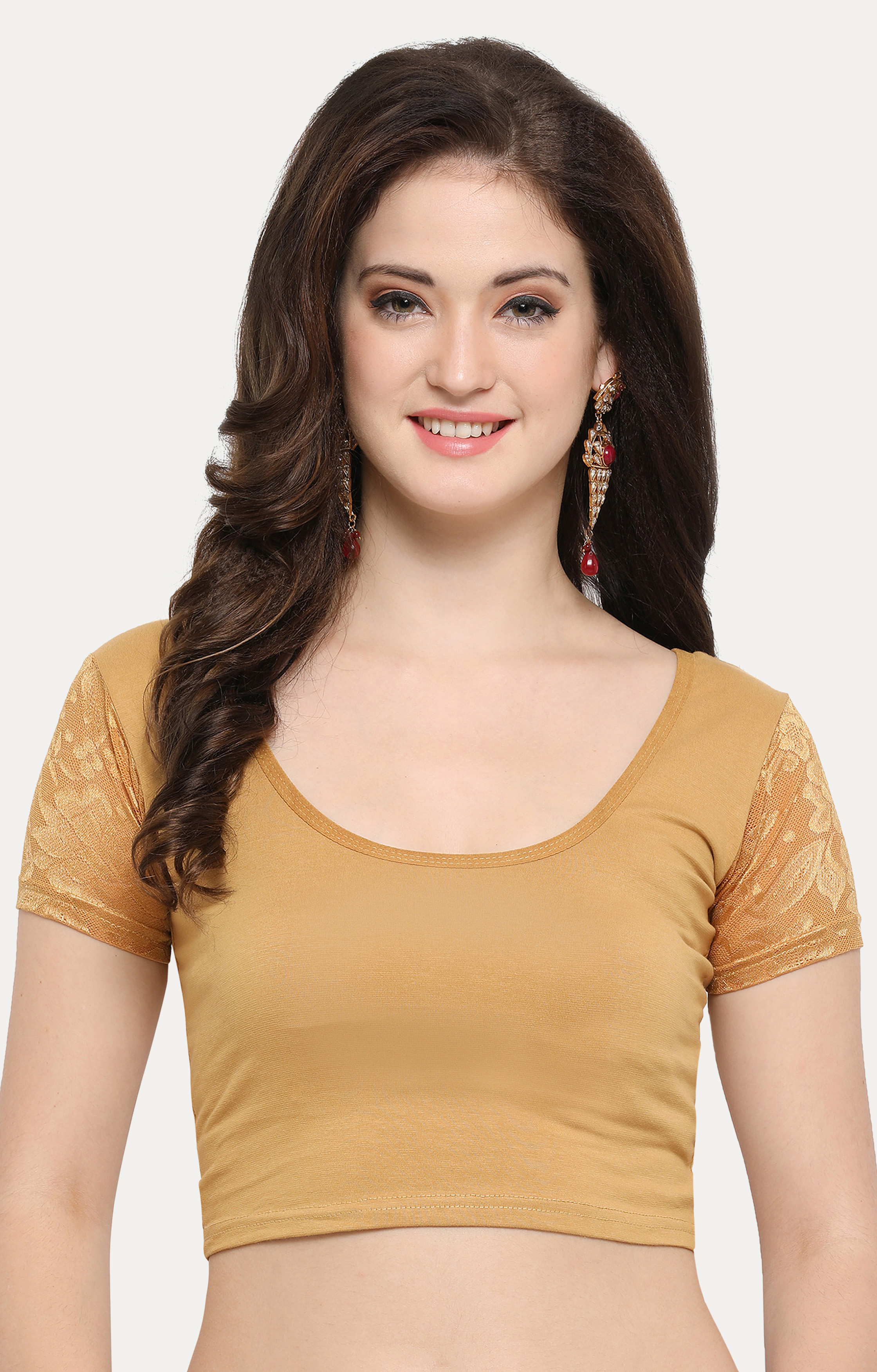 Light Brown Solid Blouse