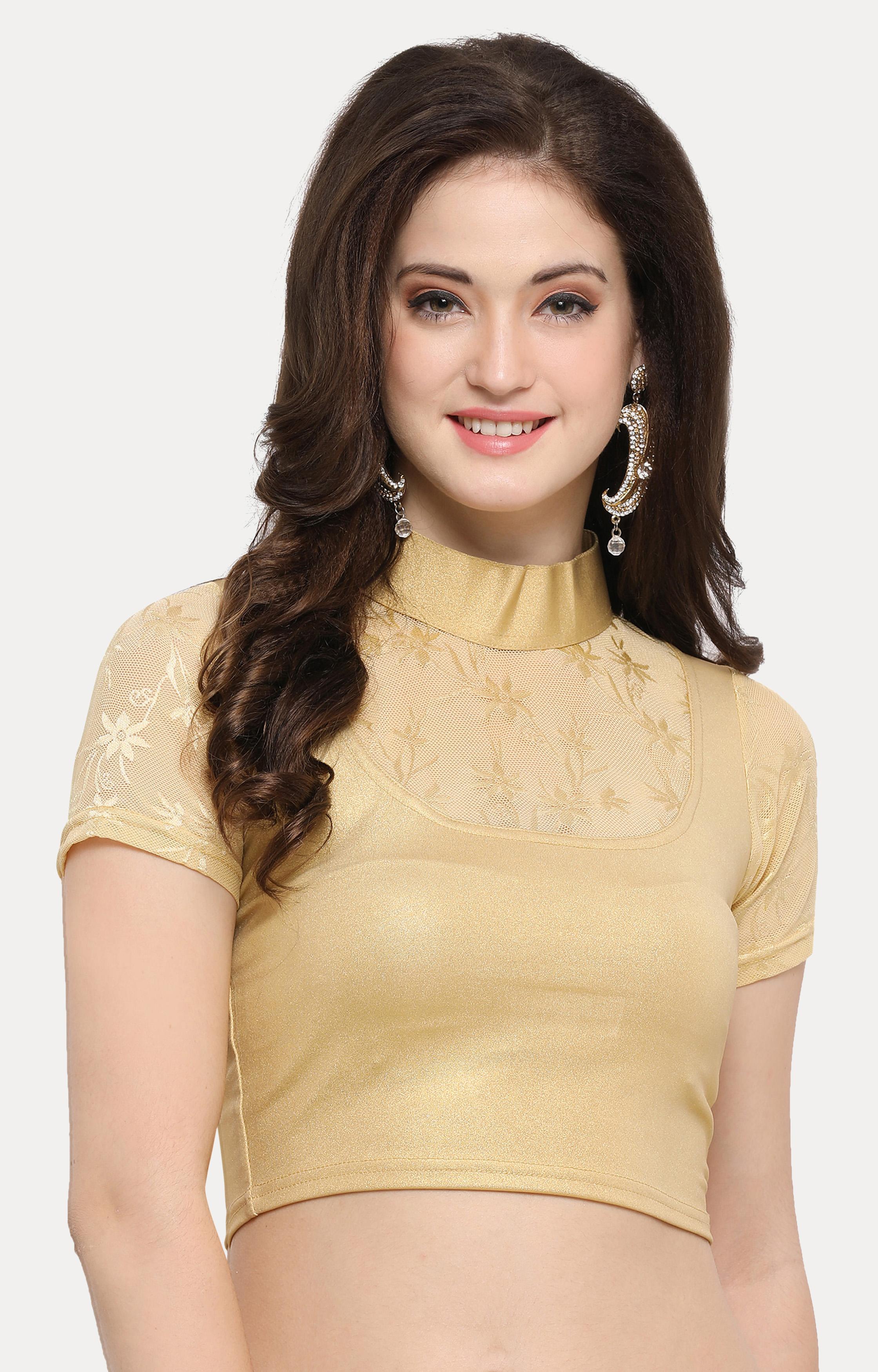 Janasya   Gold Solid Blouse