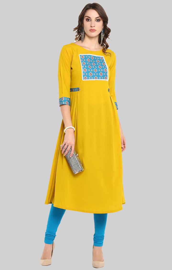 Janasya | Yellow Printed Kurta