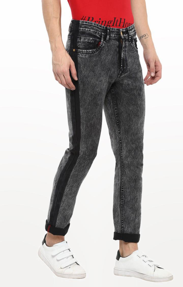 Urbano Fashion   Black Solid Straight Jeans