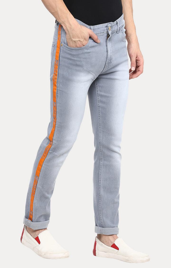 Urbano Fashion   Light Grey Solid Straight Jeans