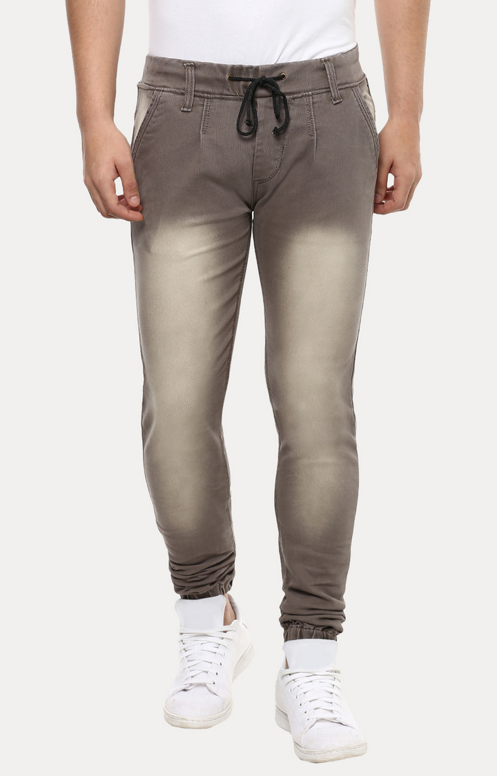 Brown Solid Joggers
